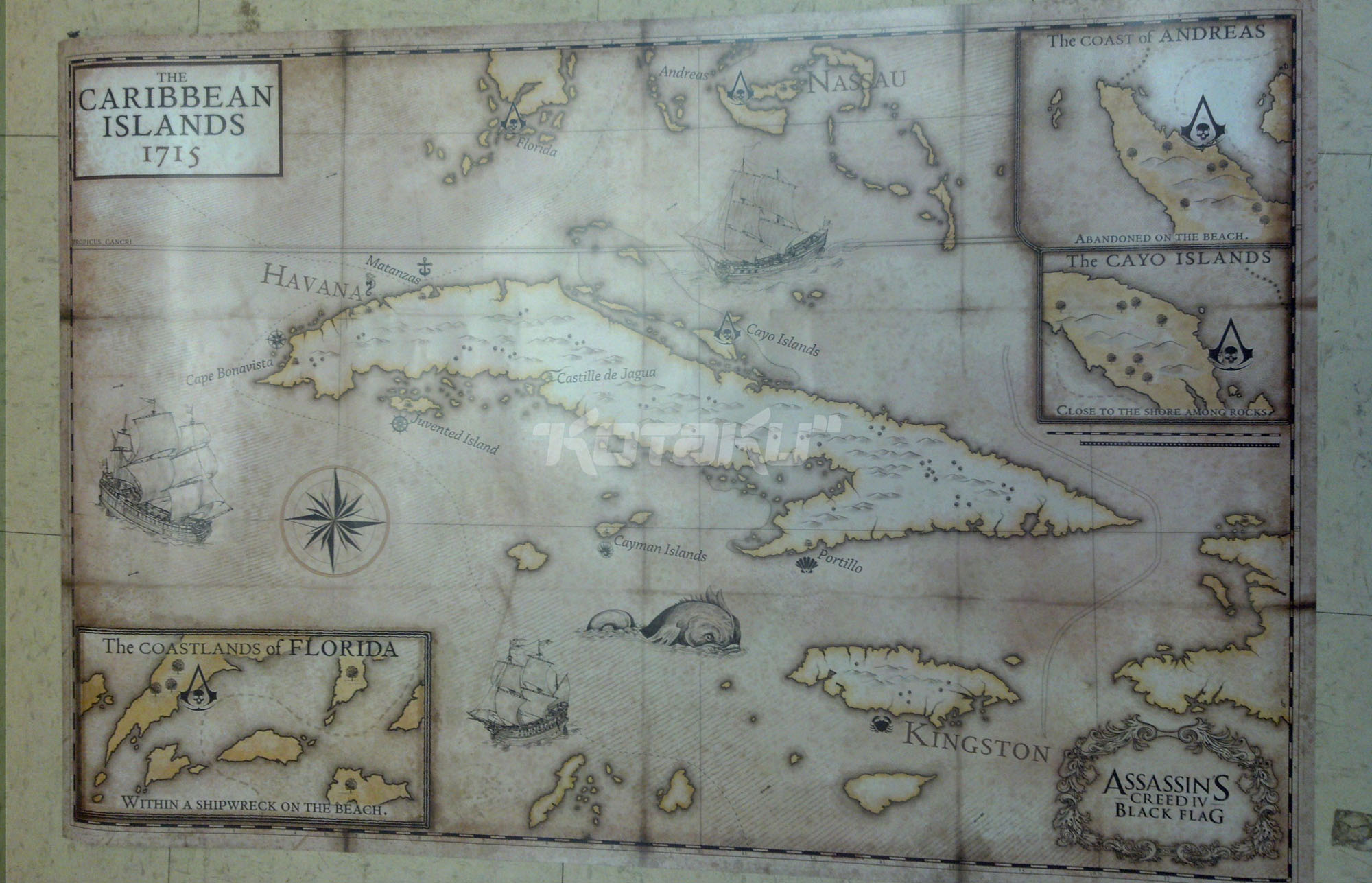 assassins creed black flag map