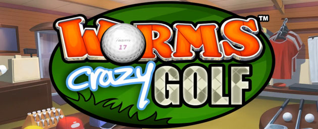 Worms Crazy Golf Logo