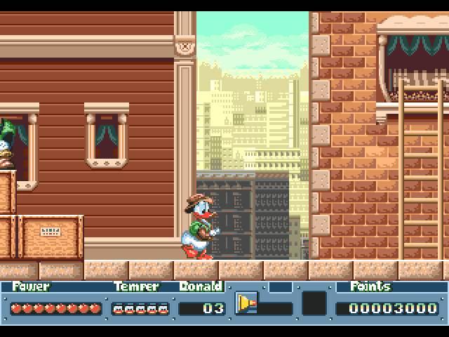 Quackshot Mega Drive ingame