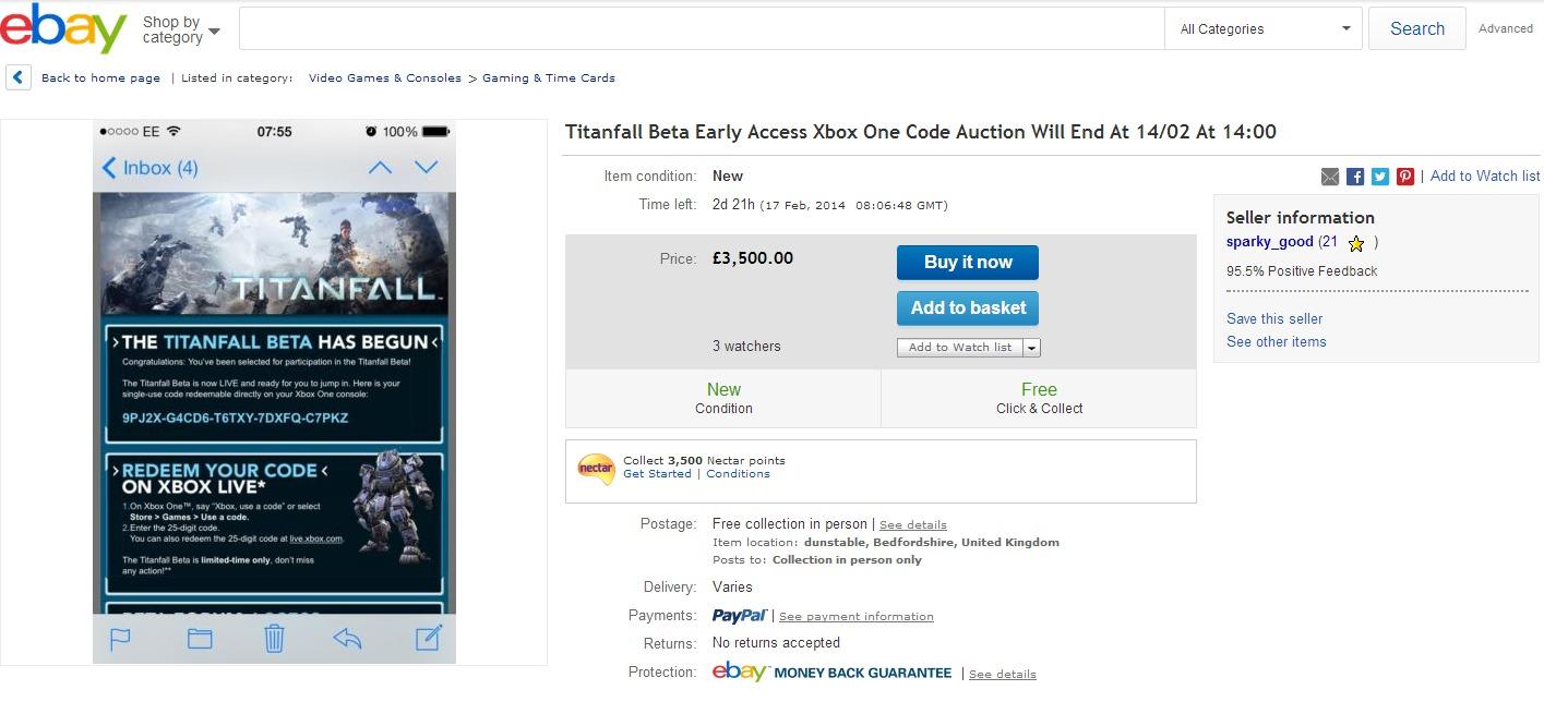 Titanfall Ebay