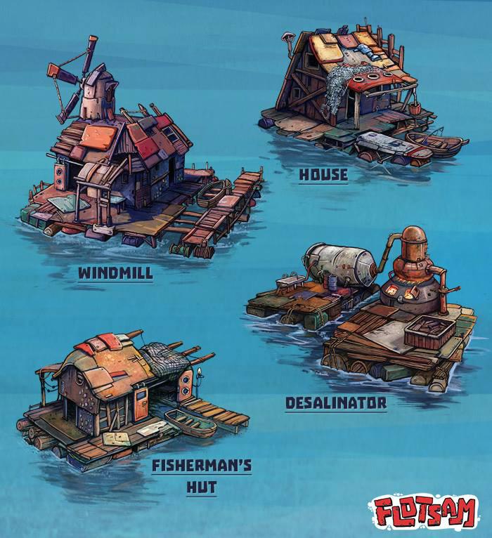 Flotsam Buildings Concept