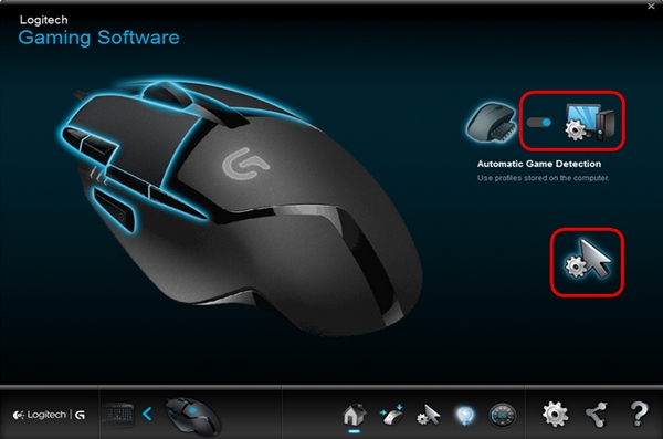 The Profiles make it easy to choose controls for every type of game.